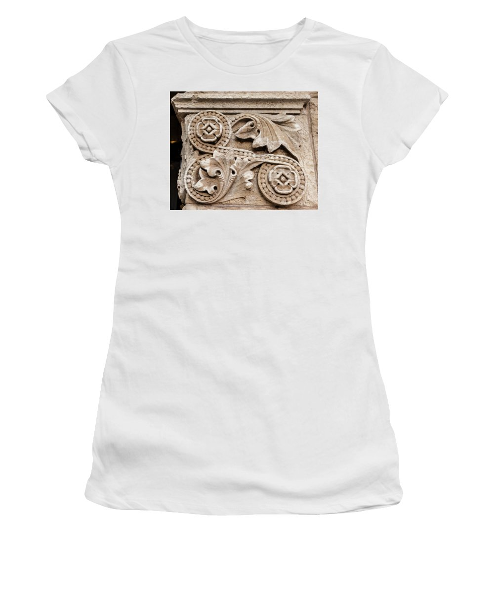 Architecture Women's T-Shirt (Athletic Fit) featuring the photograph Scroll Of Stone by Melinda Ledsome