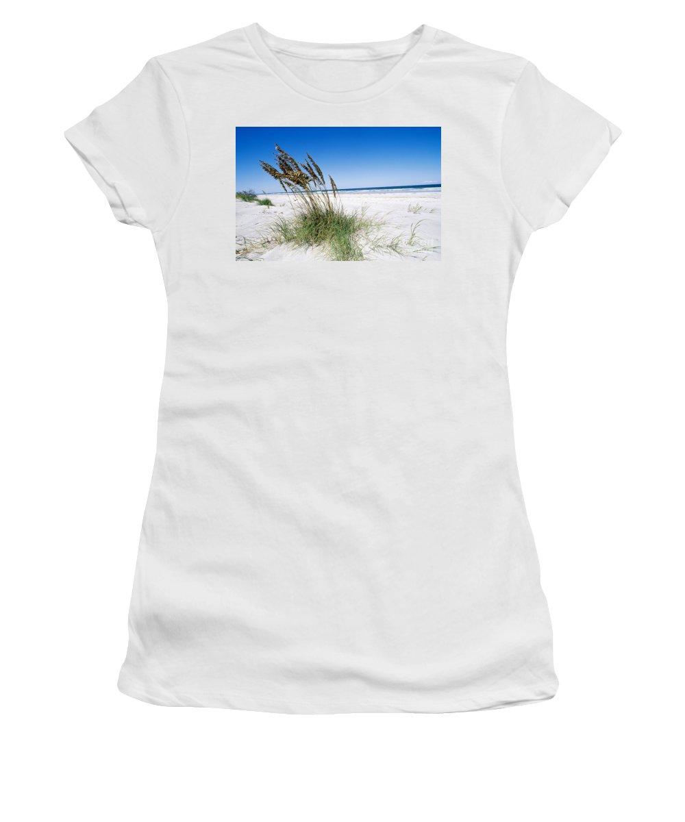 Sea Oats Women's T-Shirt featuring the photograph Sea Oats by Millard H. Sharp