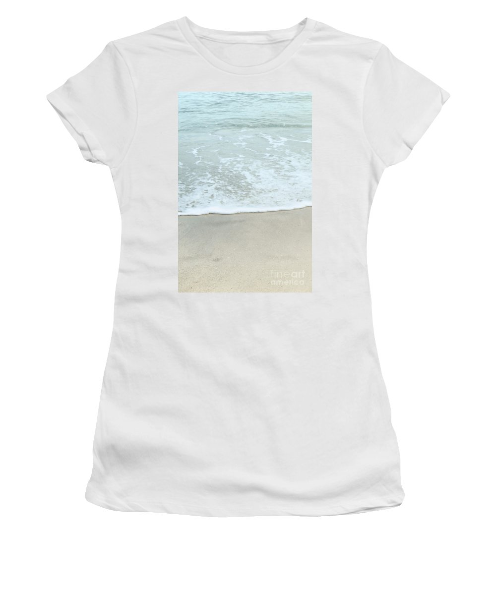 Alone Women's T-Shirt (Athletic Fit) featuring the photograph Seafoam by Margie Hurwich