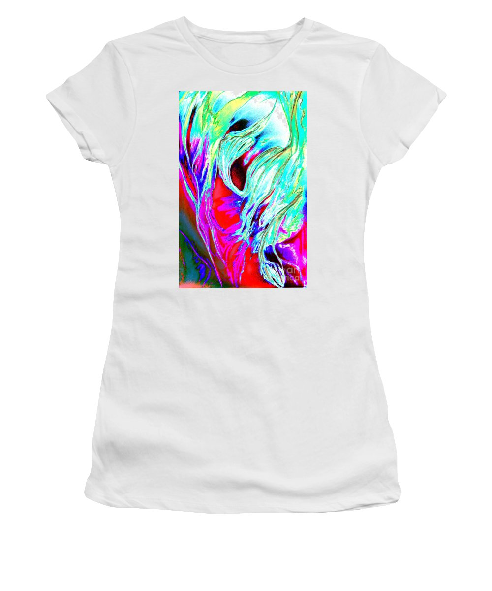 Seaweed Women's T-Shirt (Athletic Fit) featuring the digital art Seaweed by Christiane Schulze Art And Photography