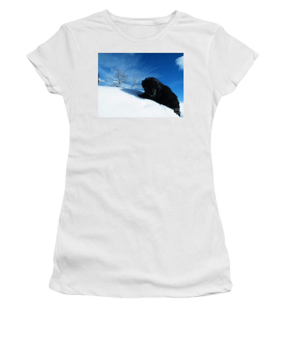 Black Women's T-Shirt (Athletic Fit) featuring the photograph Second Thoughts by Brian Boyle
