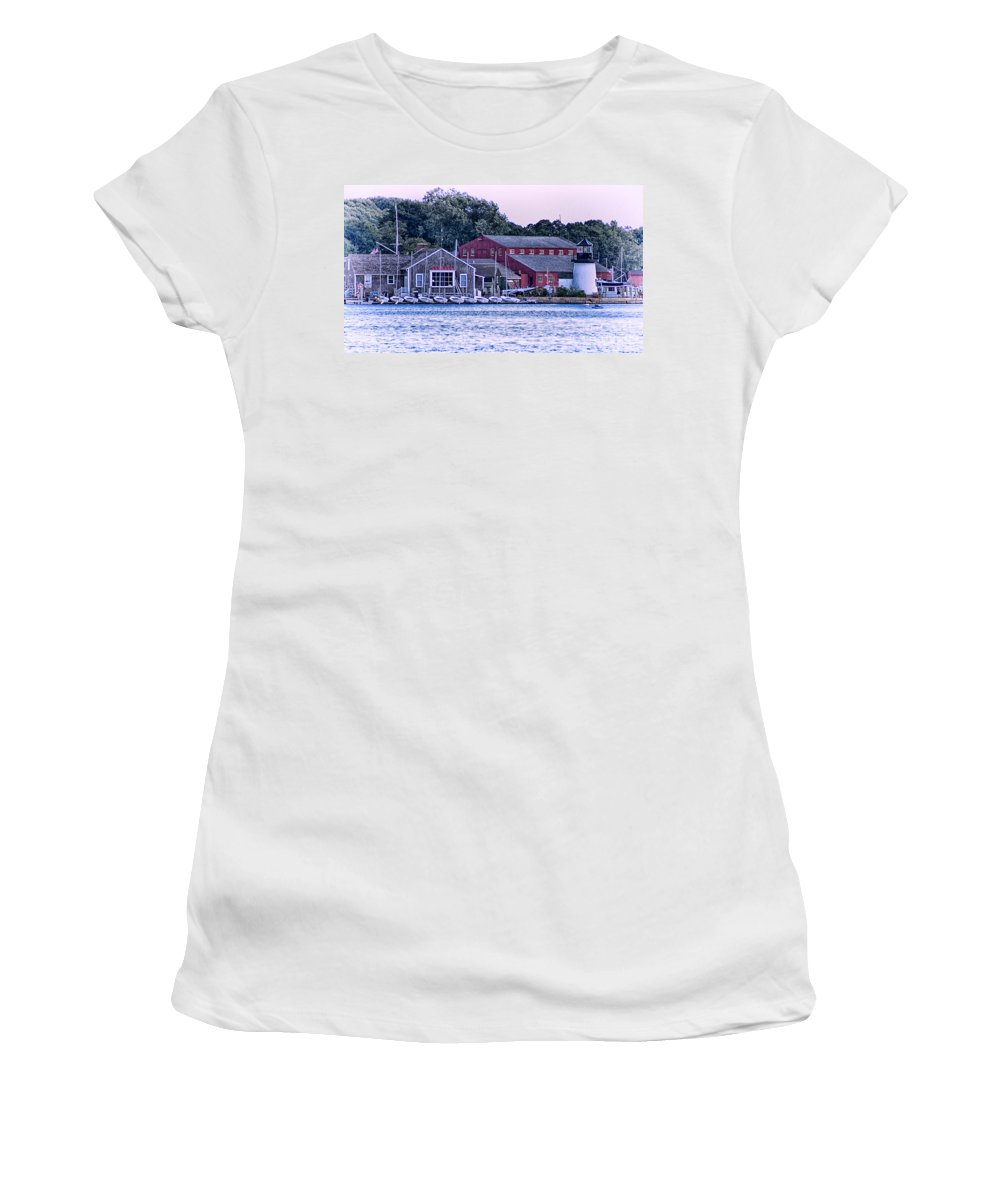 Mystic Women's T-Shirt featuring the photograph Serene Seaport by Joe Geraci