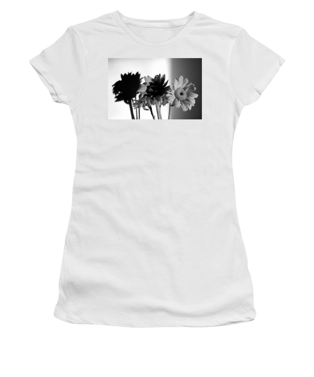 Sunflower Women's T-Shirt featuring the photograph Shadows Of Spring by Luke Moore