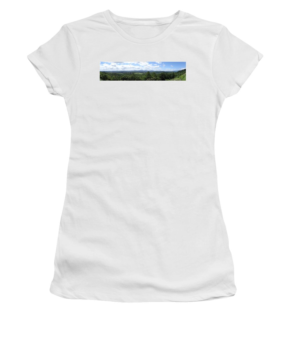 Shenandoah Valley Women's T-Shirt featuring the digital art Shenandoah Valley Panorama by Barkley Simpson