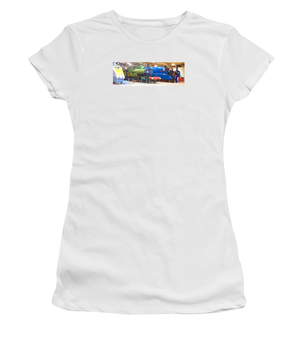 Shildon Women's T-Shirt featuring the digital art Shildon Railway Museum In England by John Lynch