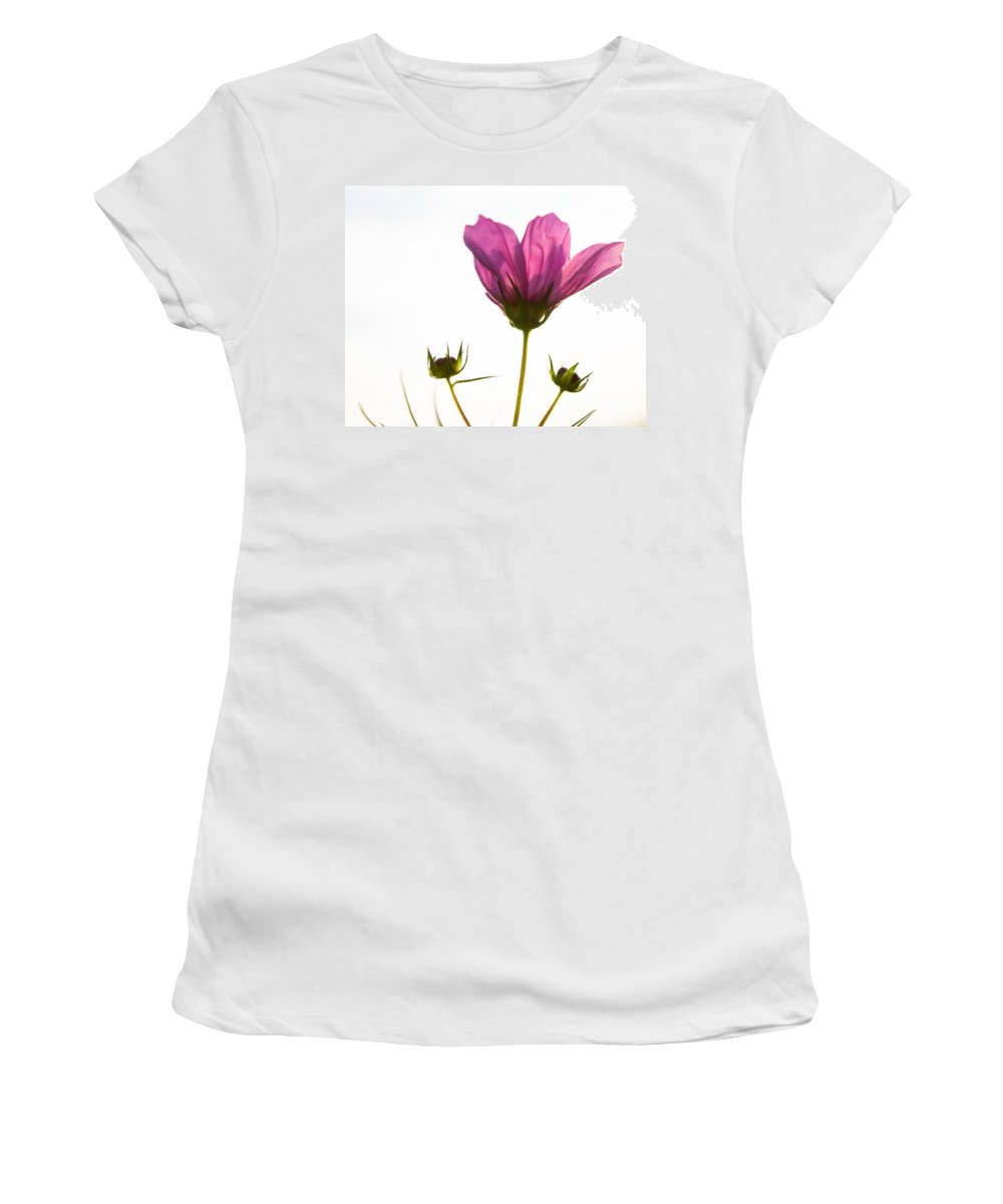 Wildflower Women's T-Shirt (Athletic Fit) featuring the photograph Shuttlecock by Bill Pevlor