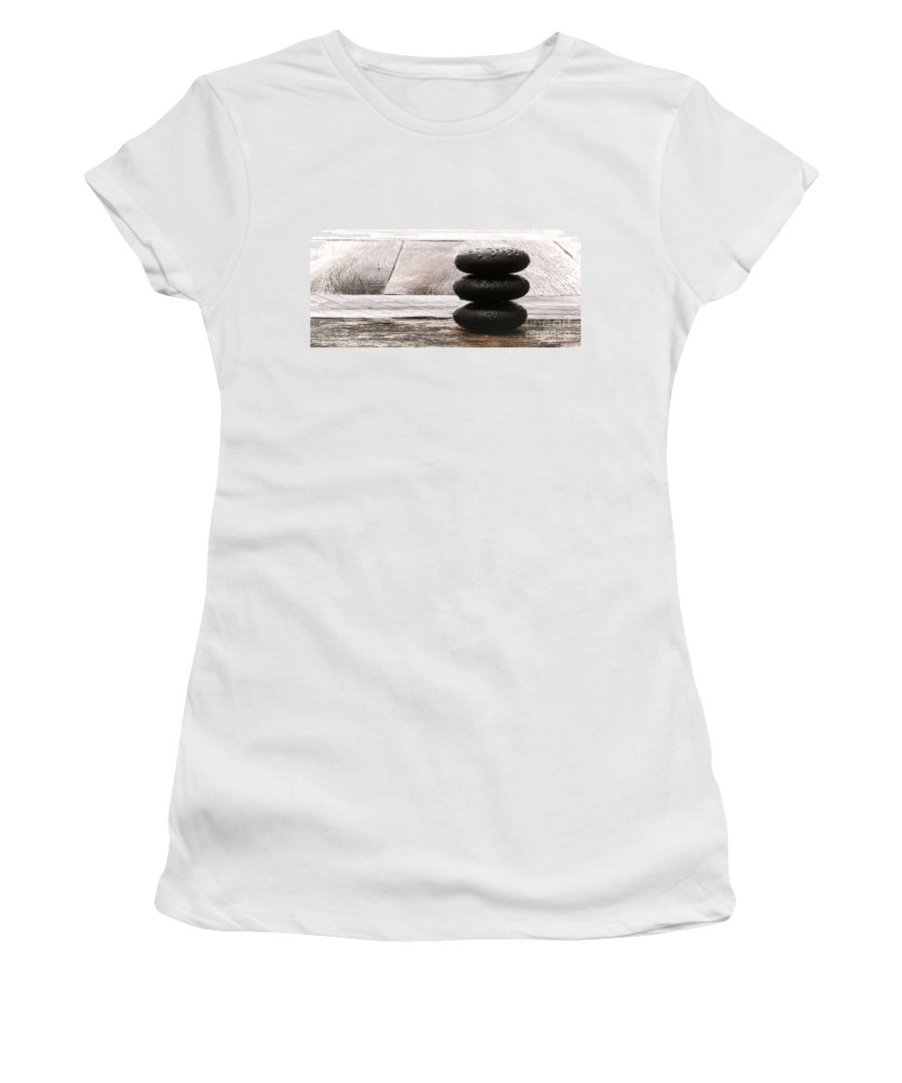 Cairn Women's T-Shirt (Athletic Fit) featuring the photograph Simplicity Wet by Olivier Le Queinec