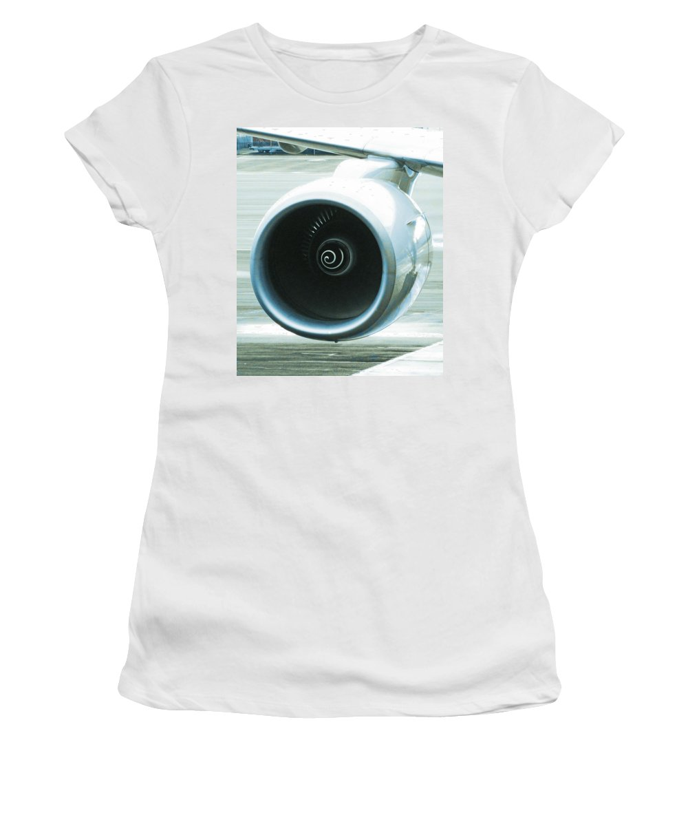 Engine Women's T-Shirt featuring the photograph Smooth Lines by Steve Taylor