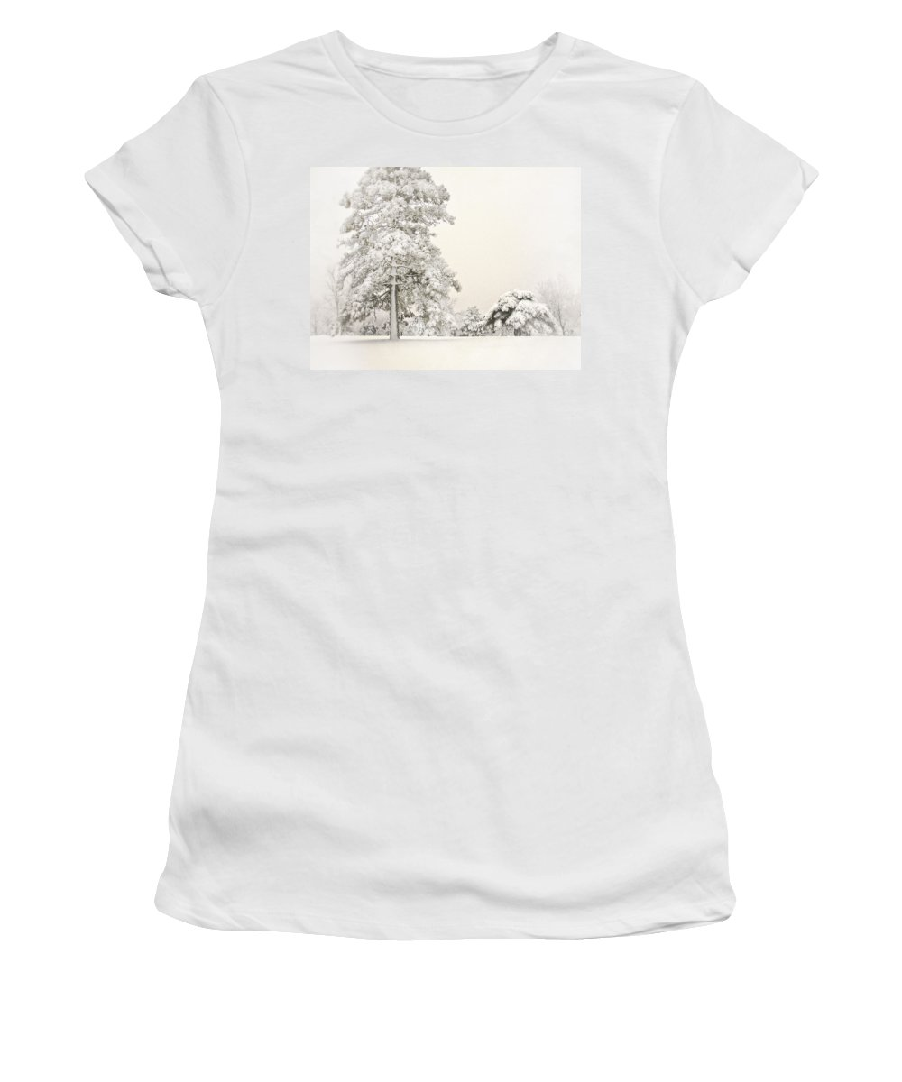 Snow Women's T-Shirt featuring the photograph Snow Covered by John Anderson