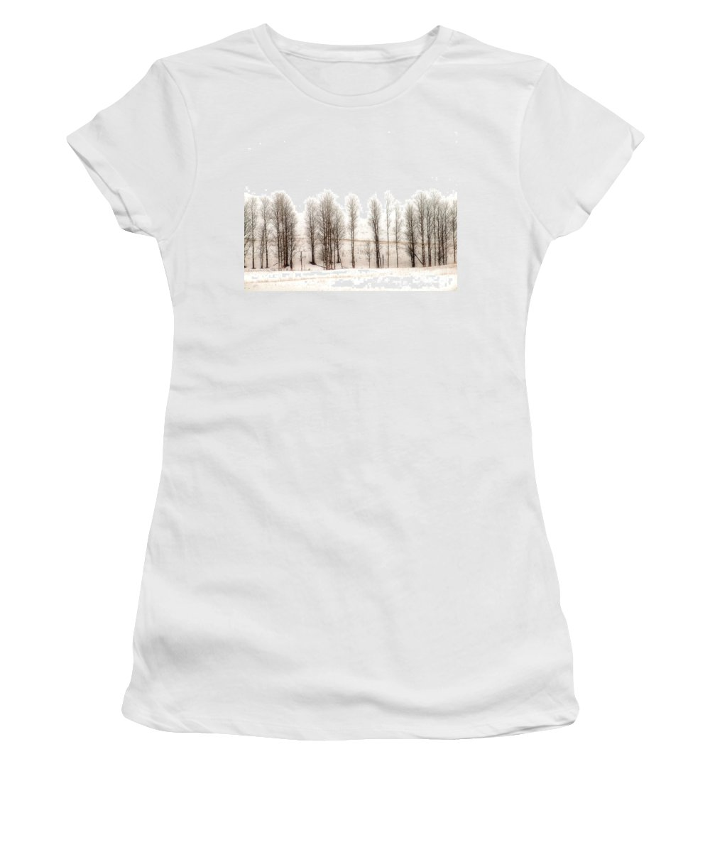 Snow Women's T-Shirt featuring the photograph Snowy Hill by Tara Turner