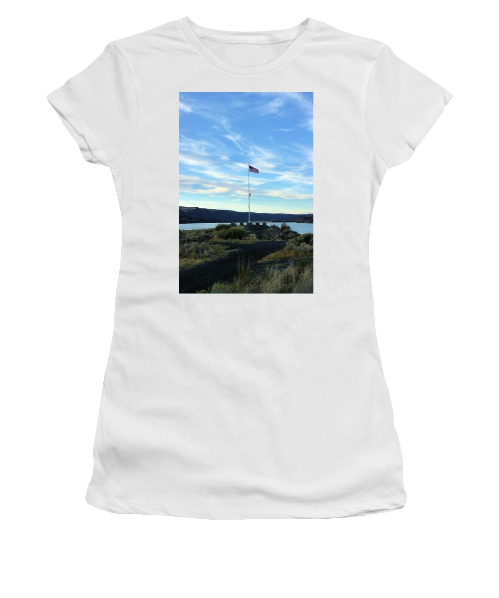 Us Women's T-Shirt (Athletic Fit) featuring the photograph Soap Lake Washington by John Greaves