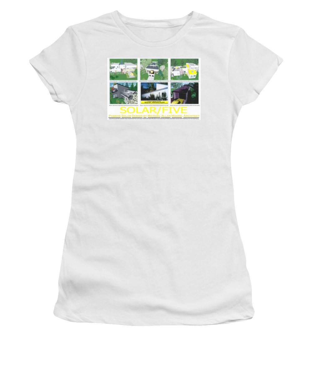 Architecture Women's T-Shirt featuring the mixed media Solar Five by Michael Moore