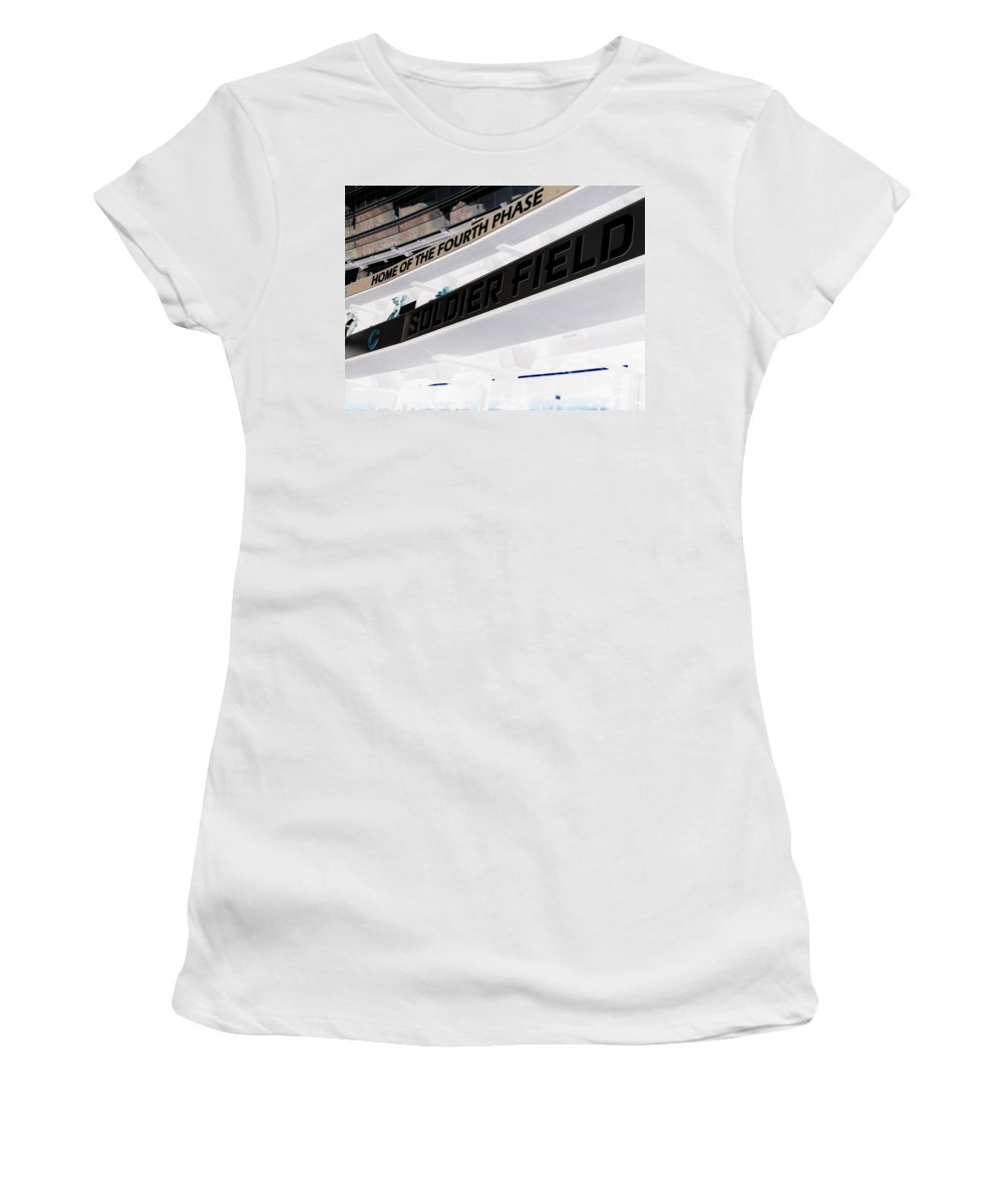 Soldier Field Women's T-Shirt featuring the photograph Soldier Field by Michael Krek