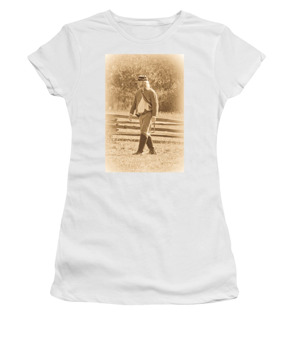 Civil War Women's T-Shirt (Athletic Fit) featuring the photograph Soldier by Steve McKinzie