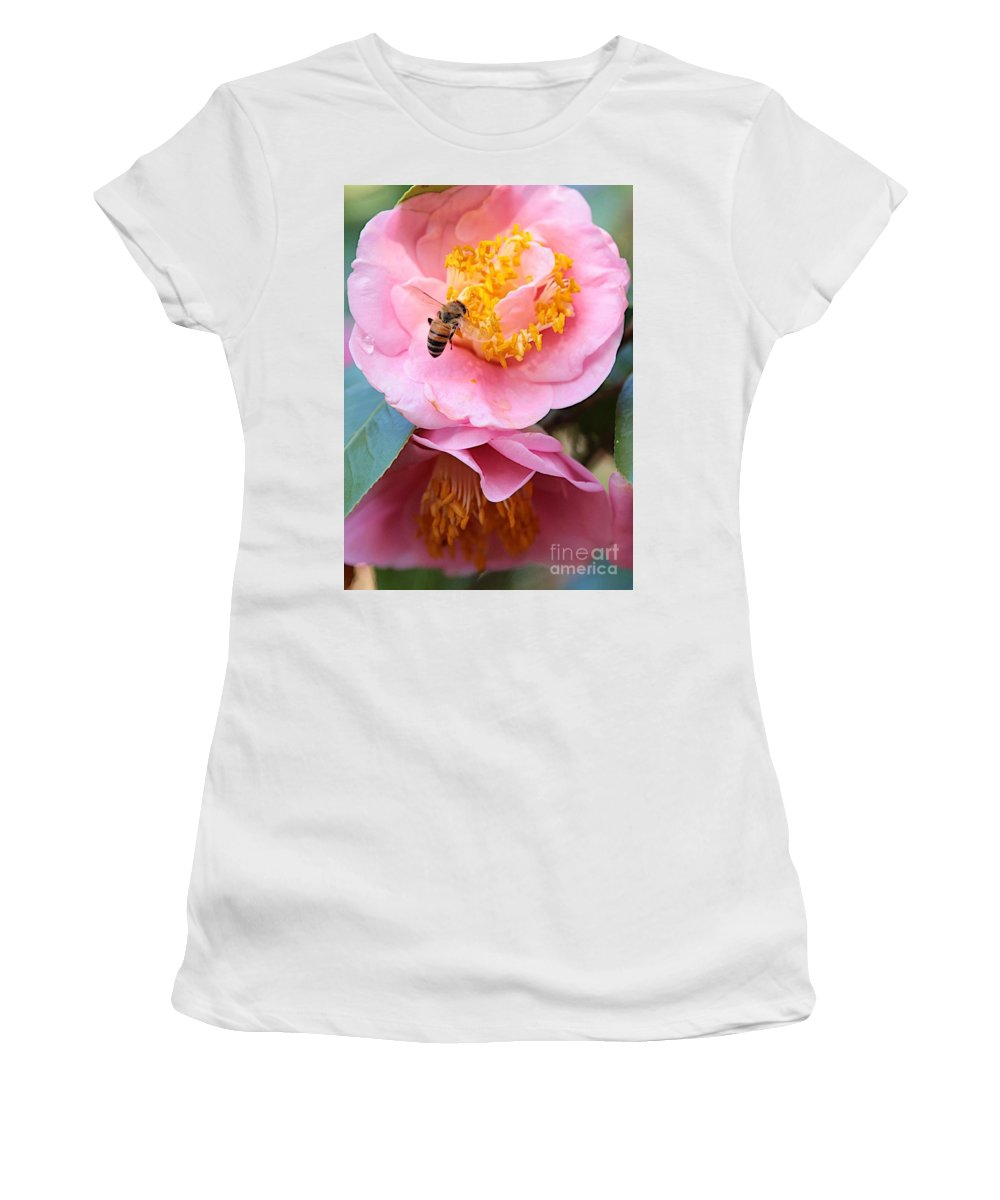 Bee Women's T-Shirt (Athletic Fit) featuring the photograph Southern Bee by Carol Groenen