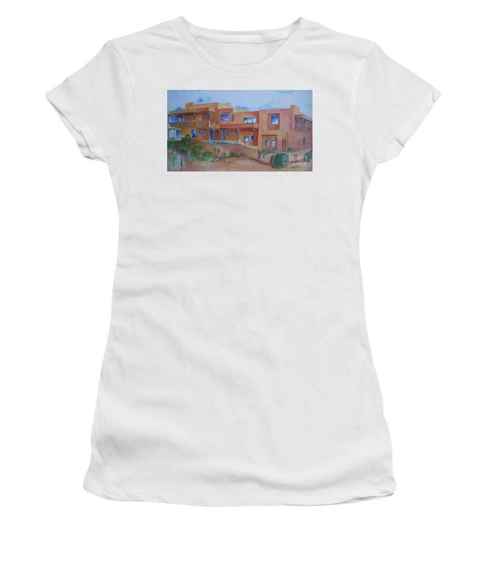 Southwestern Women's T-Shirt (Athletic Fit) featuring the painting Southwestern Home Illustration by Eric Schiabor