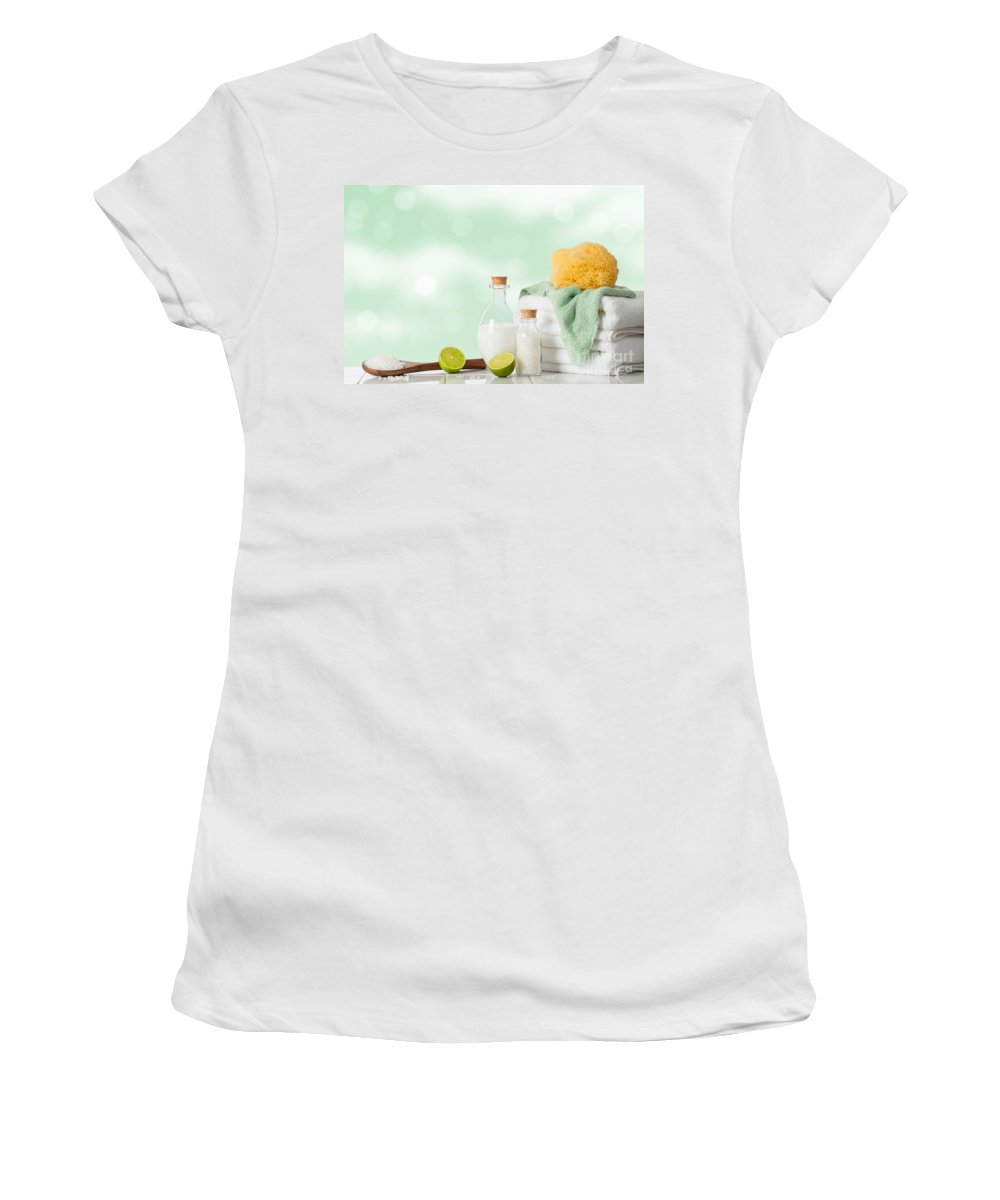 White Women's T-Shirt featuring the photograph Spa Treatment by Amanda Elwell