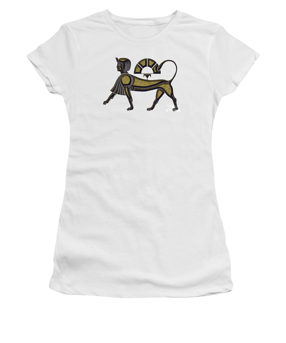 Africa Women's T-Shirt (Athletic Fit) featuring the digital art Sphinx - Mythical Creature Of Ancient Egypt by Michal Boubin