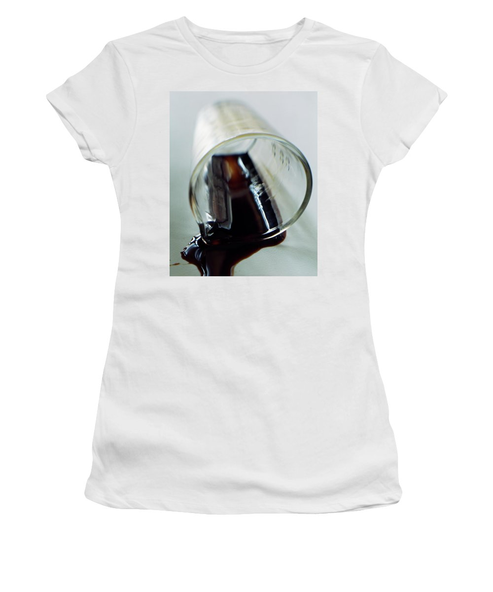 Food Women's T-Shirt featuring the photograph Spilled Balsamic Vinegar by Romulo Yanes