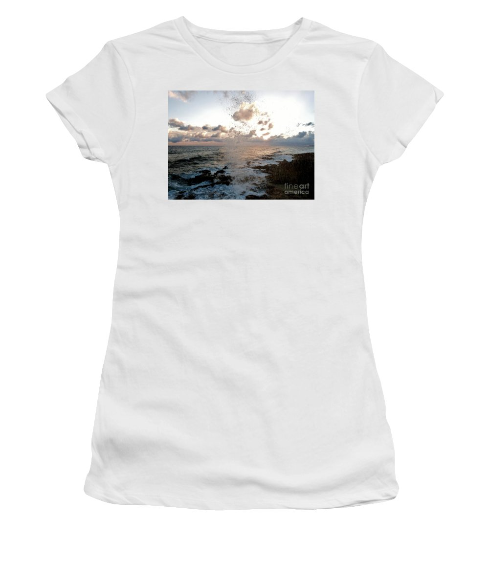 Color Women's T-Shirt (Athletic Fit) featuring the photograph Splash by Amar Sheow