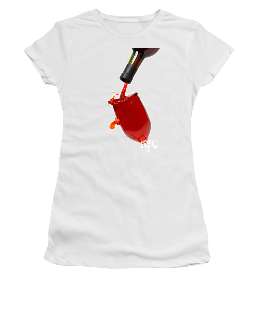 Wine Women's T-Shirt featuring the photograph Splash by Olivier Le Queinec