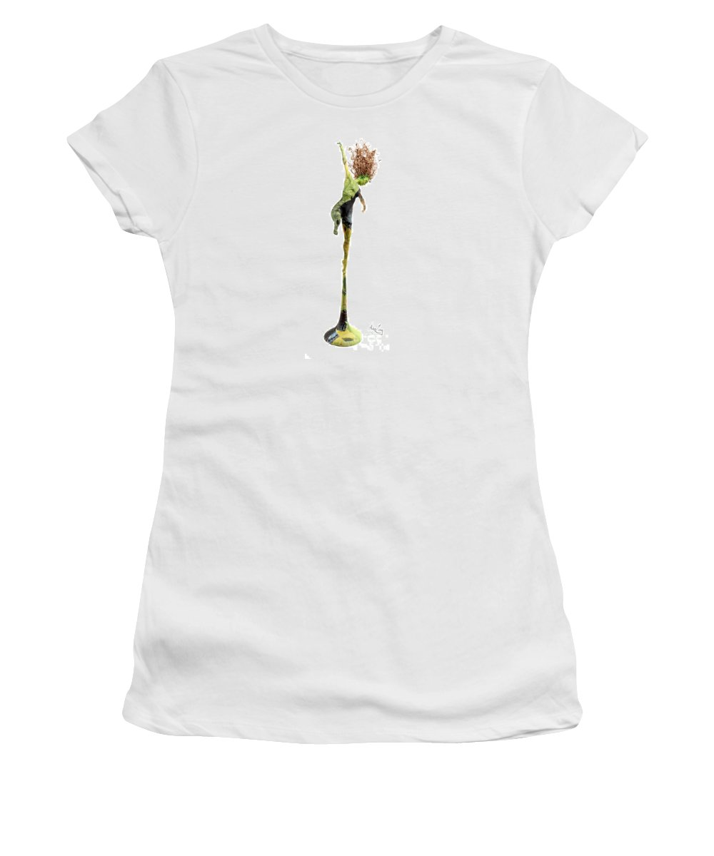 Art Women's T-Shirt (Athletic Fit) featuring the sculpture Spread Wings A Sculpture By Adam Long by Adam Long