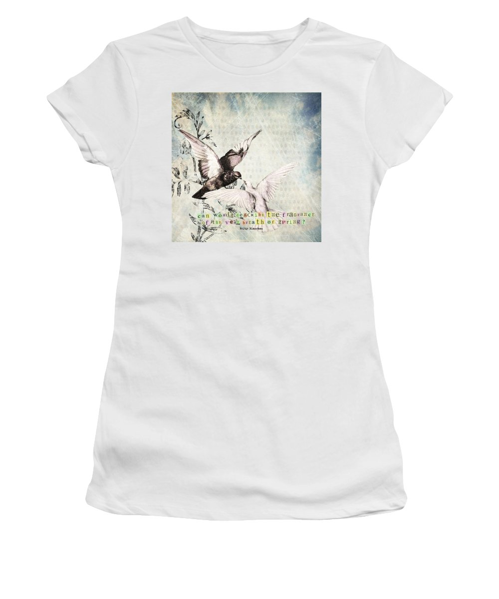 Spring Women's T-Shirt featuring the digital art Spring by Cassie Peters
