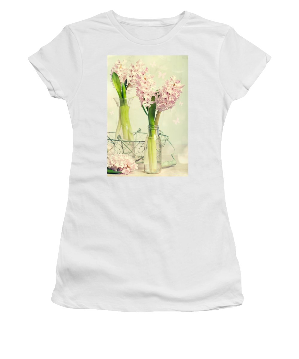 Hyacinth Women's T-Shirt featuring the photograph Spring Hyacinths by Amanda Elwell