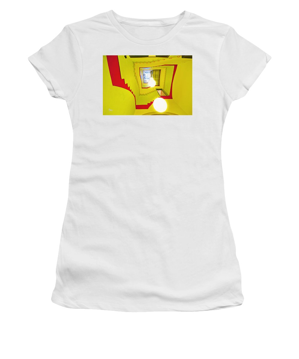 Espiral Women's T-Shirt (Athletic Fit) featuring the photograph Square Spiral by Alejandro Ascanio