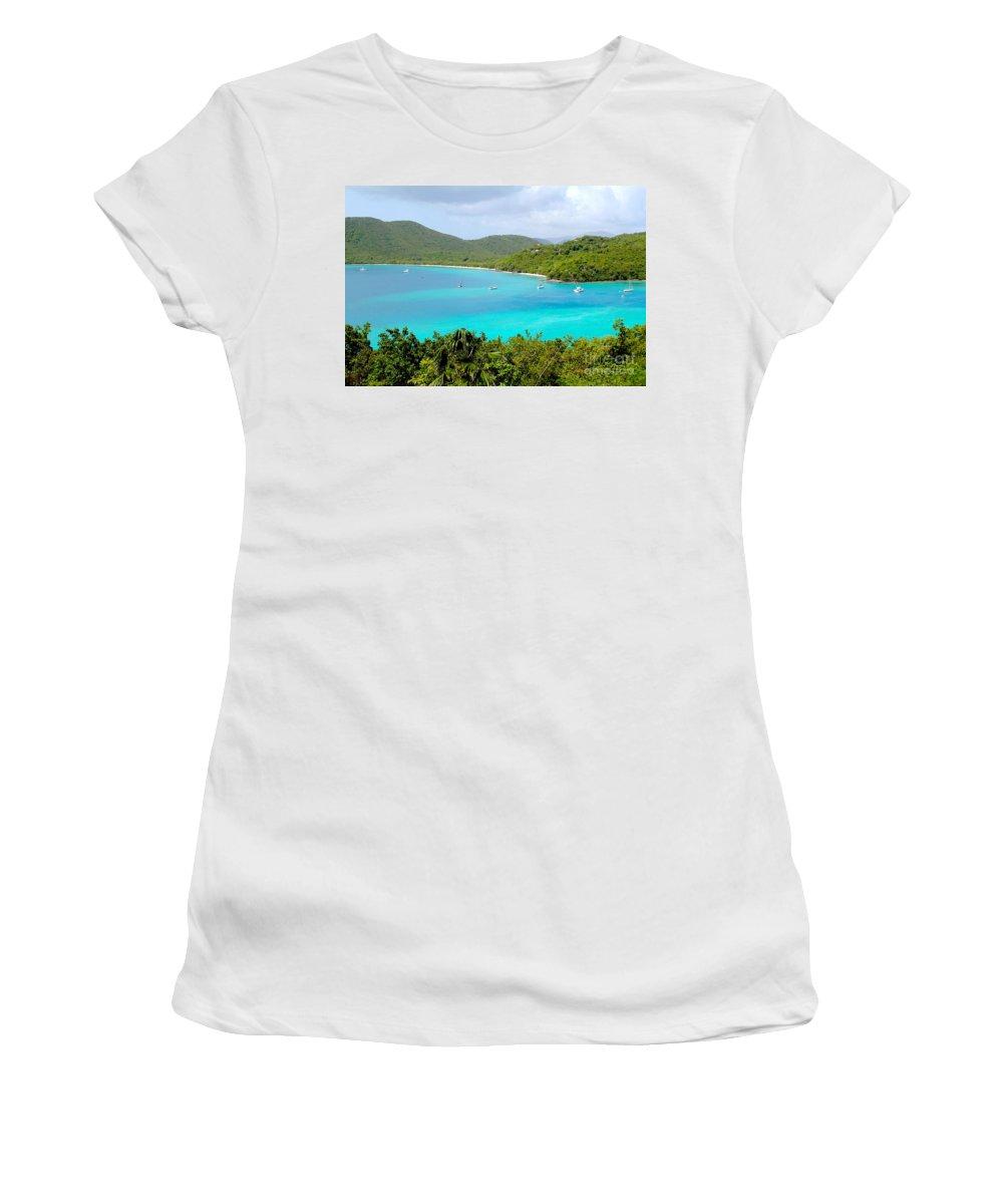 Baths Women's T-Shirt (Athletic Fit) featuring the photograph St John Beach by Carey Chen