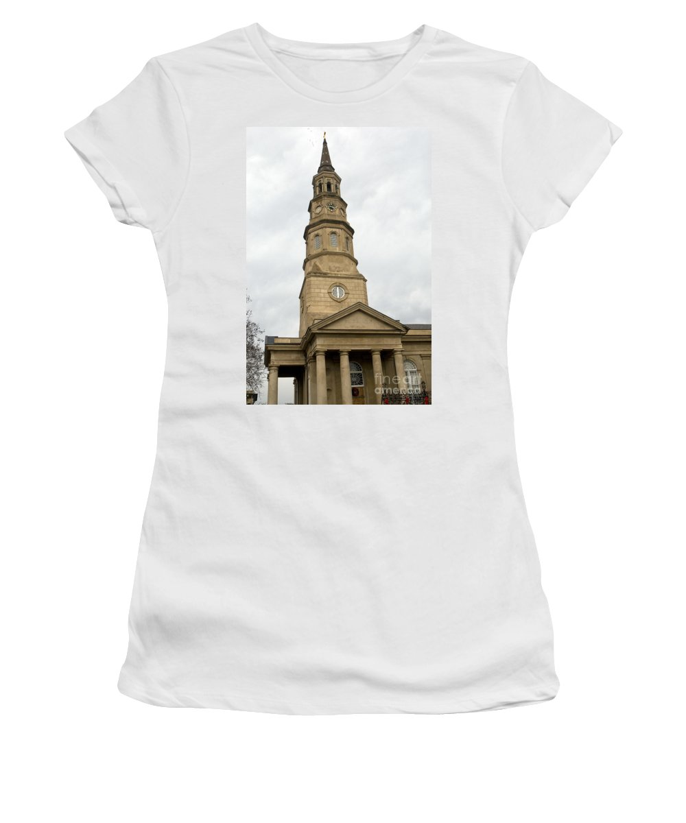 St. Phillip's Episcopal Church Women's T-Shirt featuring the photograph St Phillips Episcopal Church Charleston South Carolina by Jason O Watson