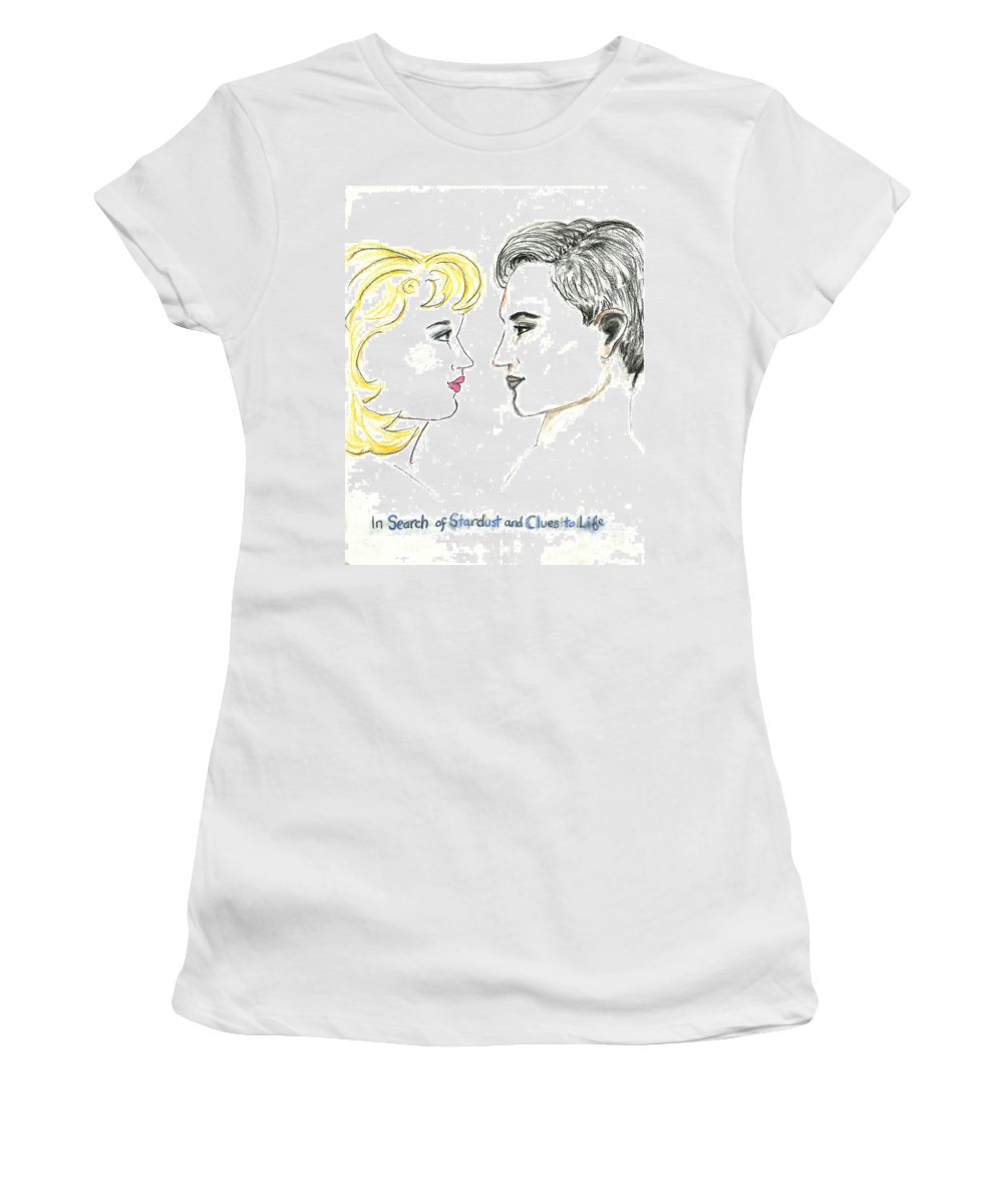 Romance Women's T-Shirt featuring the pastel Stardust by Ellie Waligurski