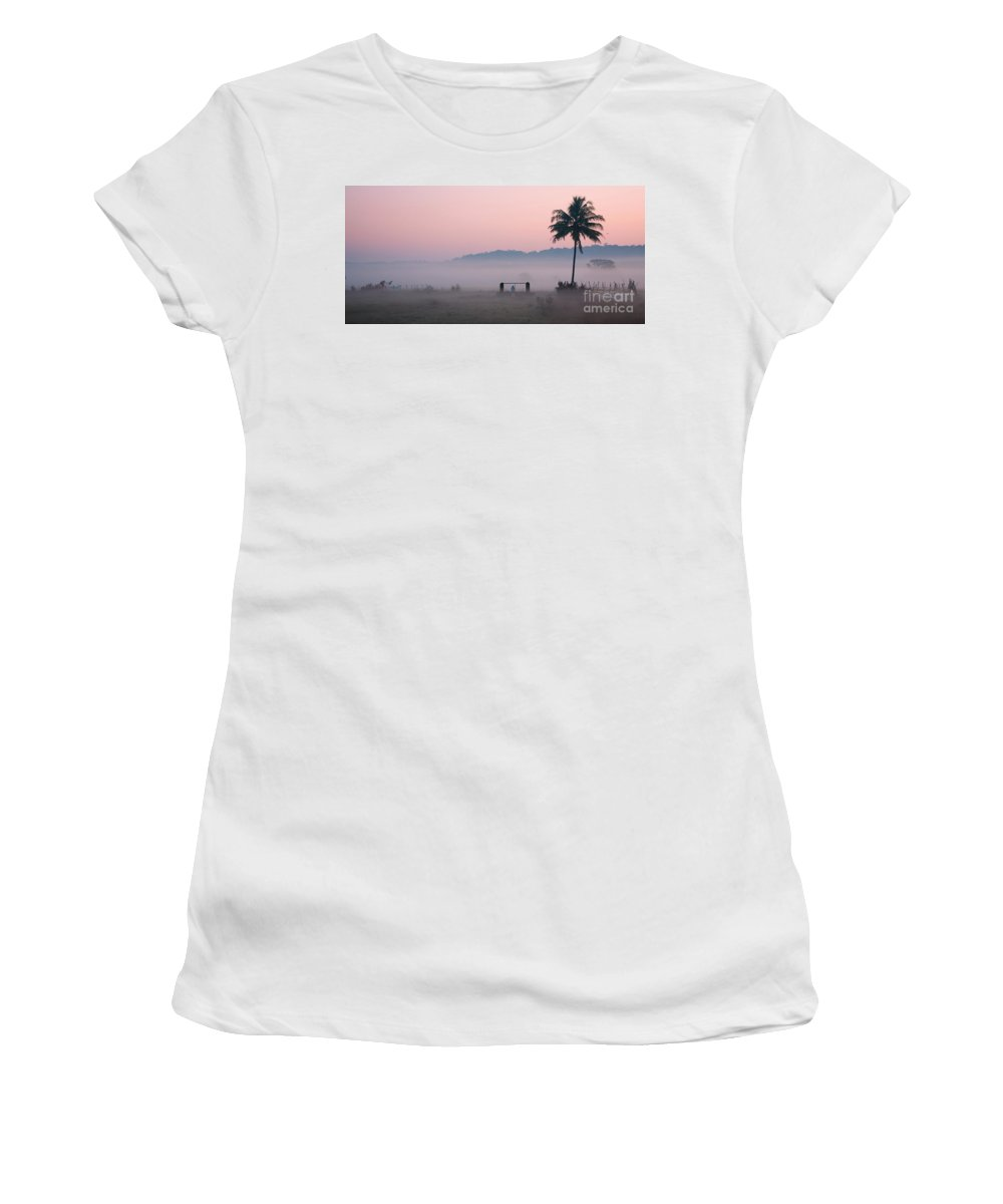 Morning Women's T-Shirt (Athletic Fit) featuring the photograph Start by Dattaram Gawade