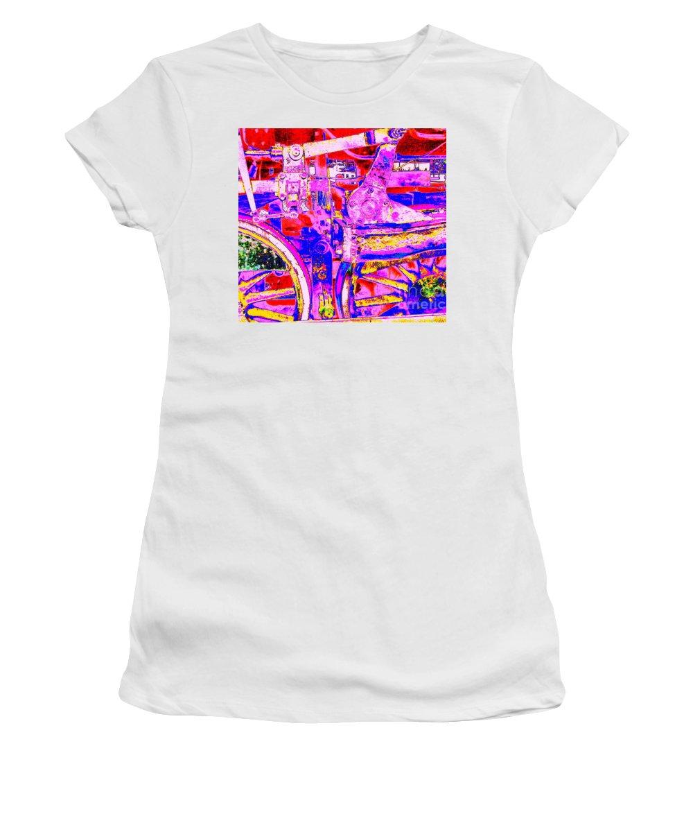 Locomotive Women's T-Shirt featuring the digital art Steampunk Iron Horse #4 A by Peter Ogden