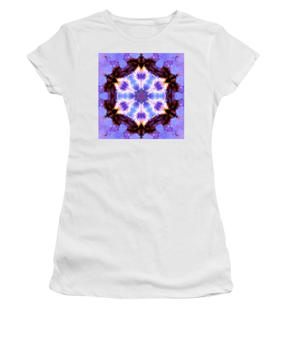 Stellar Spiral Eagle Nebula Iii Women's T-Shirt (Athletic Fit) featuring the photograph Stellar Spiral Eagle Nebula IIi by Derek Gedney