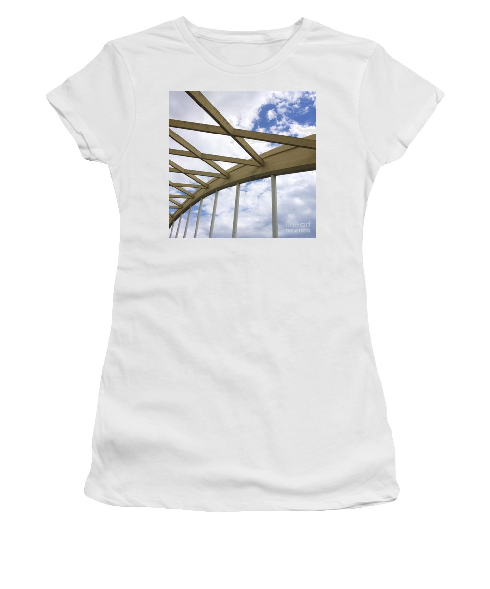 Outdoors Women's T-Shirt (Athletic Fit) featuring the photograph Structure by Bernard Jaubert