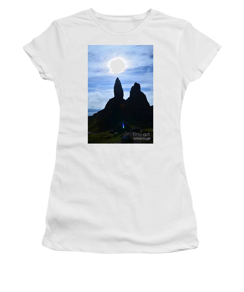 Old Man Of Storr Women's T-Shirt (Athletic Fit) featuring the photograph Stunning Old Man Of Storr by DejaVu Designs