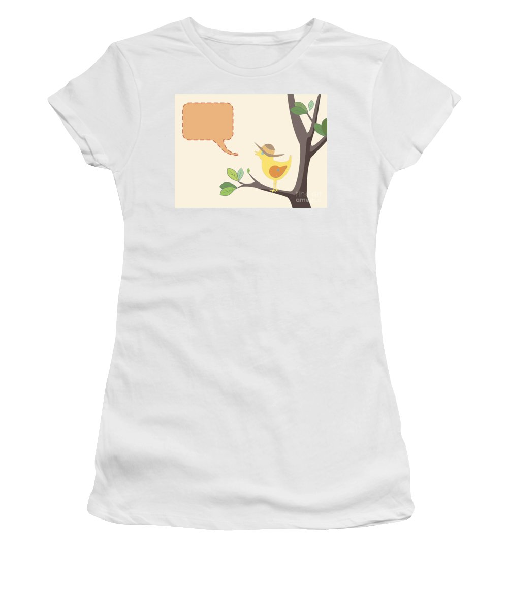 Hat Women's T-Shirt (Athletic Fit) featuring the photograph Summer Bird by Tim Hester