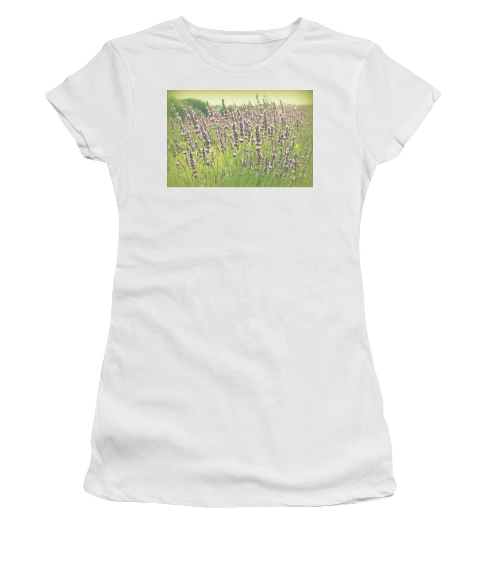 Lavender Women's T-Shirt (Athletic Fit) featuring the photograph Summer Dreams by Lynn Sprowl