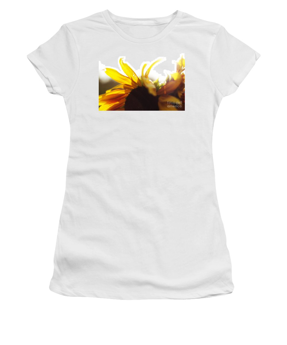 Sunlight Women's T-Shirt featuring the photograph Sunflower Sunlight by Alanna DPhoto