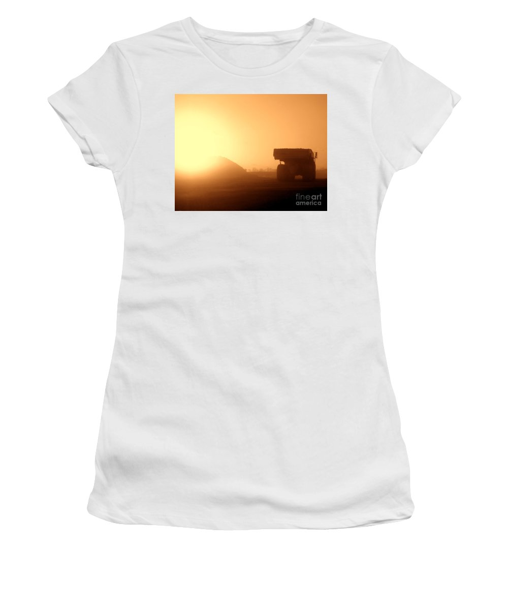 Truck Women's T-Shirt (Athletic Fit) featuring the photograph Sunset Truck by Olivier Le Queinec