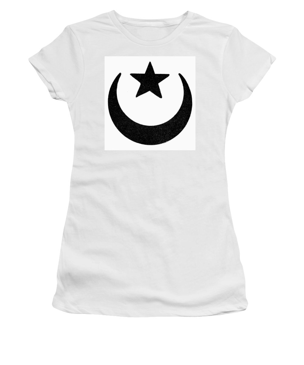Crescent Women's T-Shirt (Athletic Fit) featuring the painting Symbol Islam by Granger