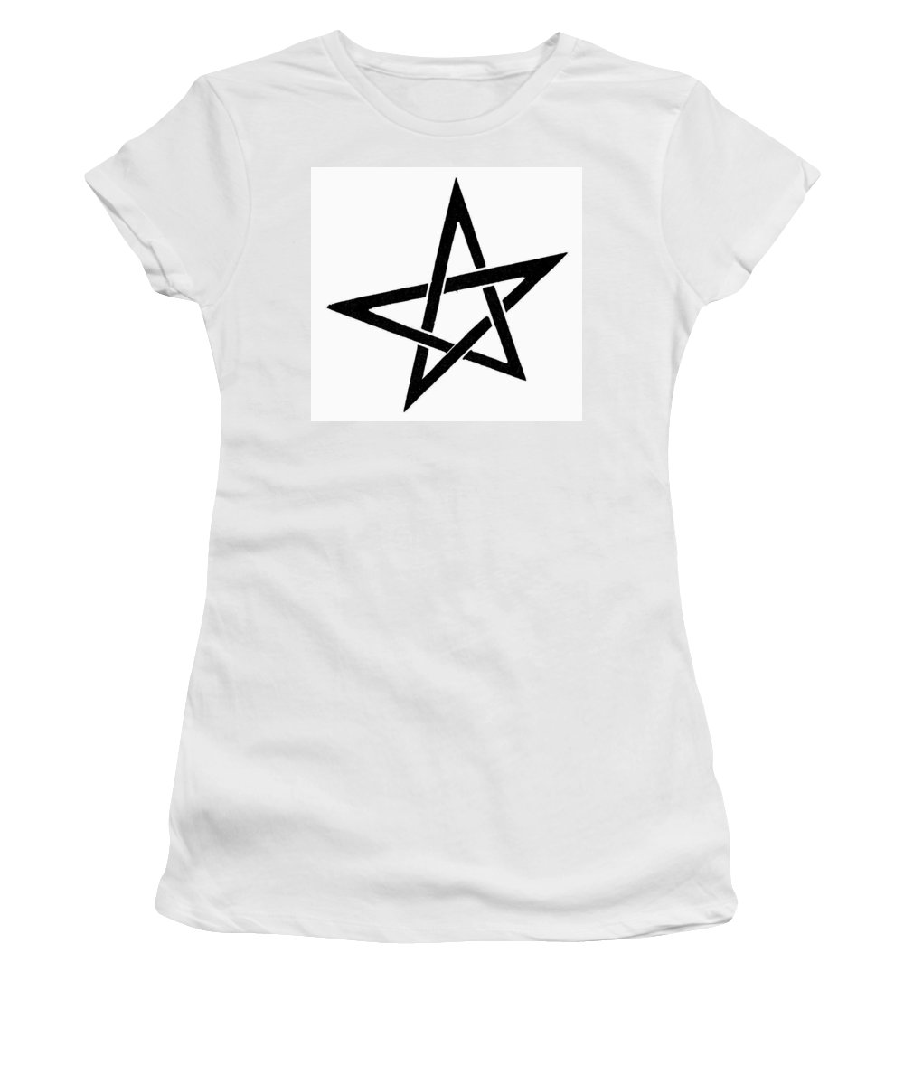 Evita Women's T-Shirt (Athletic Fit) featuring the painting Symbol Pentacle by Granger