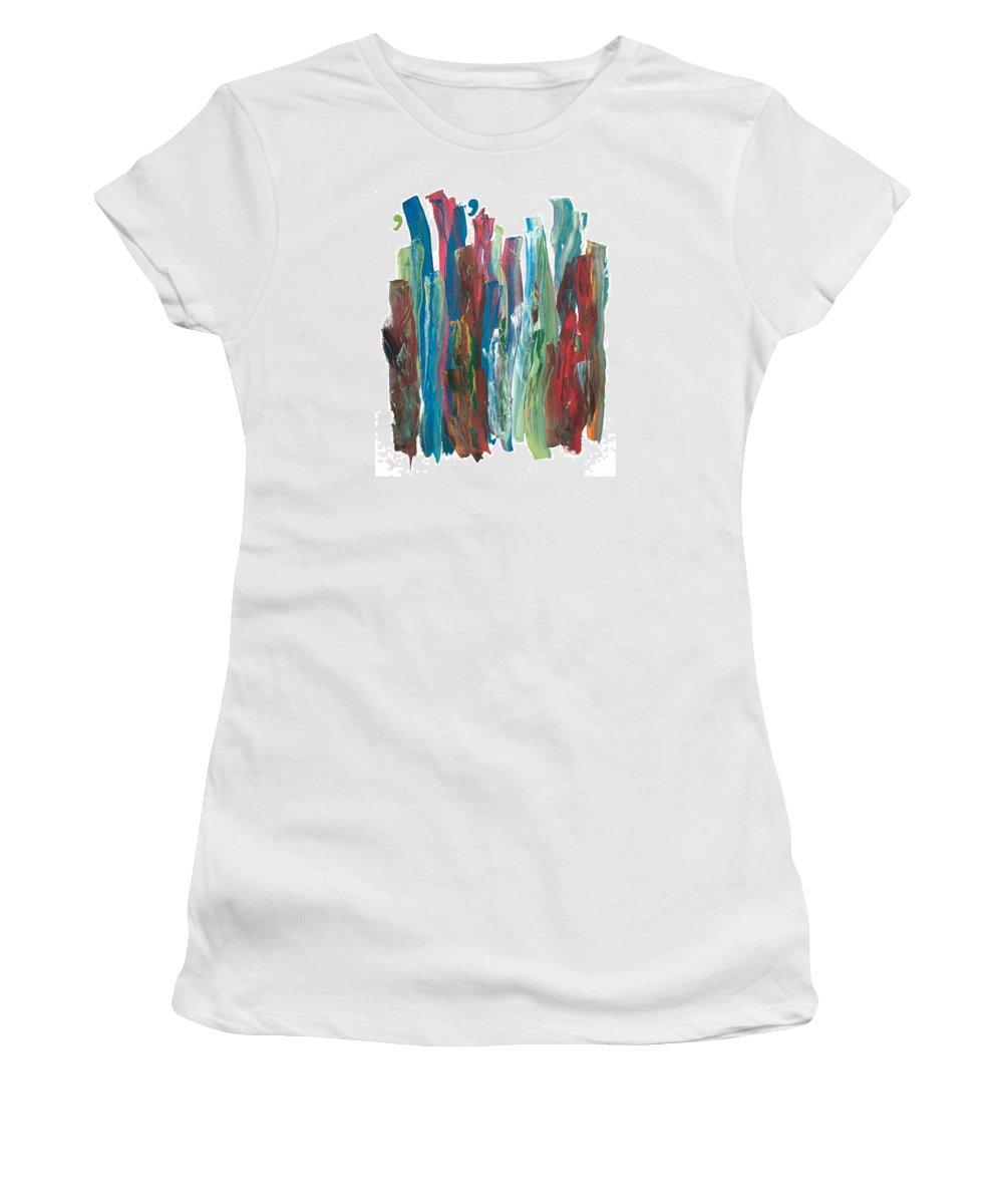 Music.symphony Women's T-Shirt (Athletic Fit) featuring the painting Symphony by Bjorn Sjogren