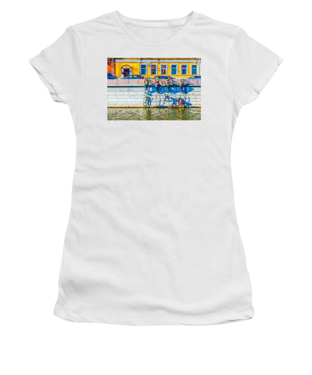 Moscow Women's T-Shirt (Athletic Fit) featuring the photograph Symphony Of Work by Alexander Senin