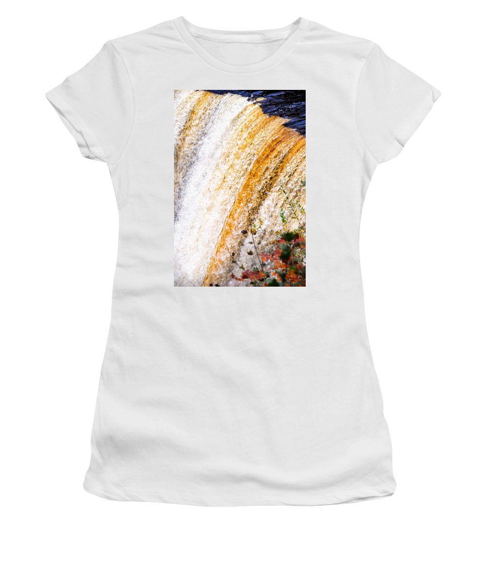 Optical Playground By Mp Ray Women's T-Shirt featuring the photograph Tahquamenon Upper Falls by Optical Playground By MP Ray