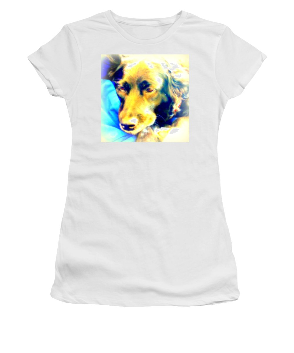 Dog Women's T-Shirt featuring the photograph Take A Nap With Me by Hilde Widerberg