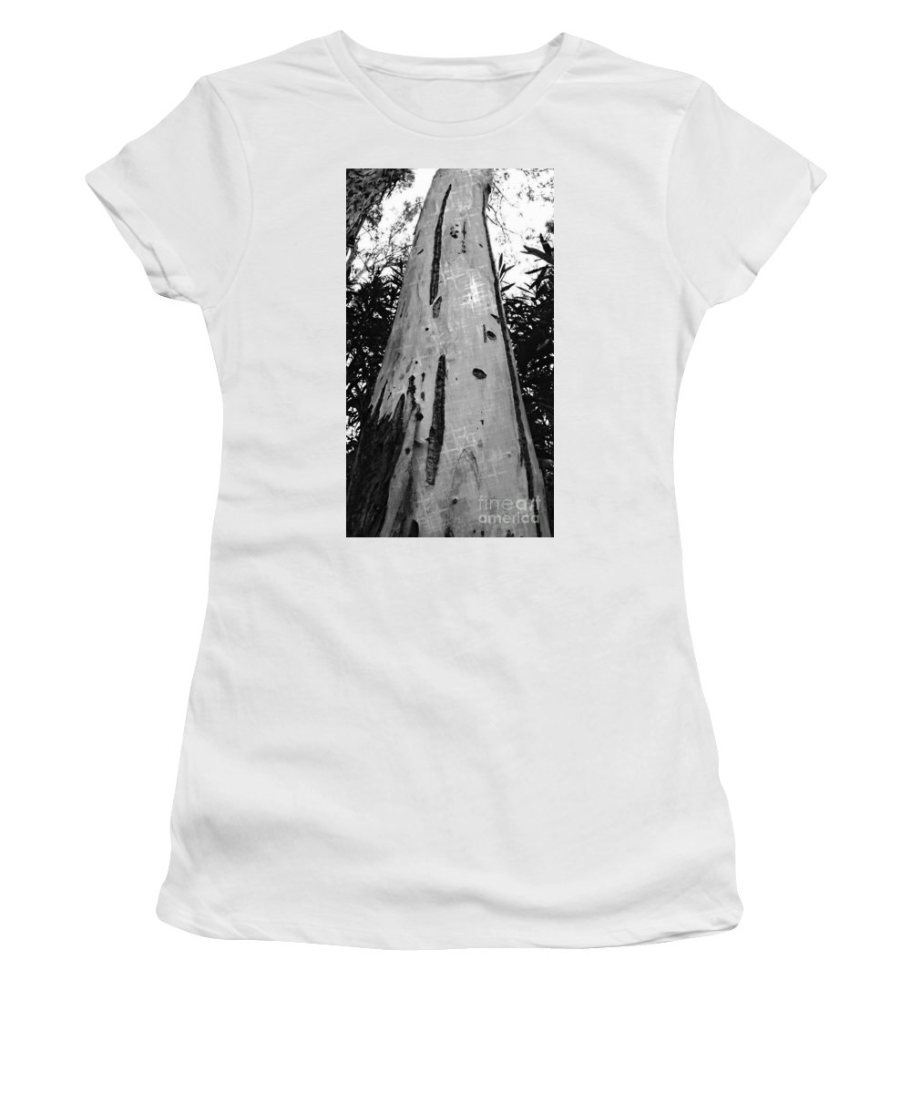 Tree Women's T-Shirt (Athletic Fit) featuring the photograph Tall by Clare Bevan