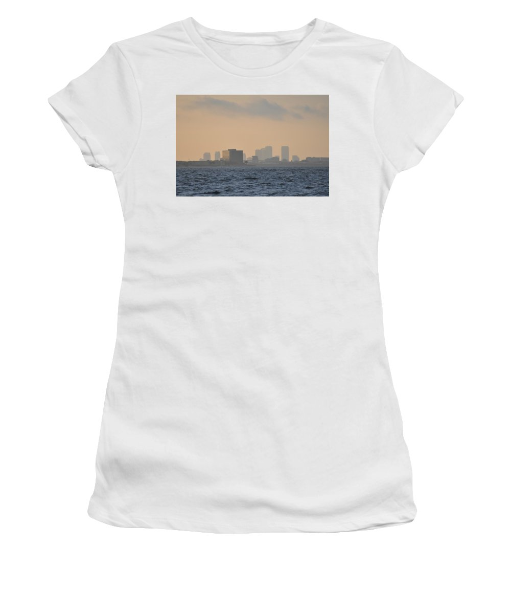 Tampa Women's T-Shirt (Athletic Fit) featuring the photograph Tampa From The West Shore by Bill Cannon