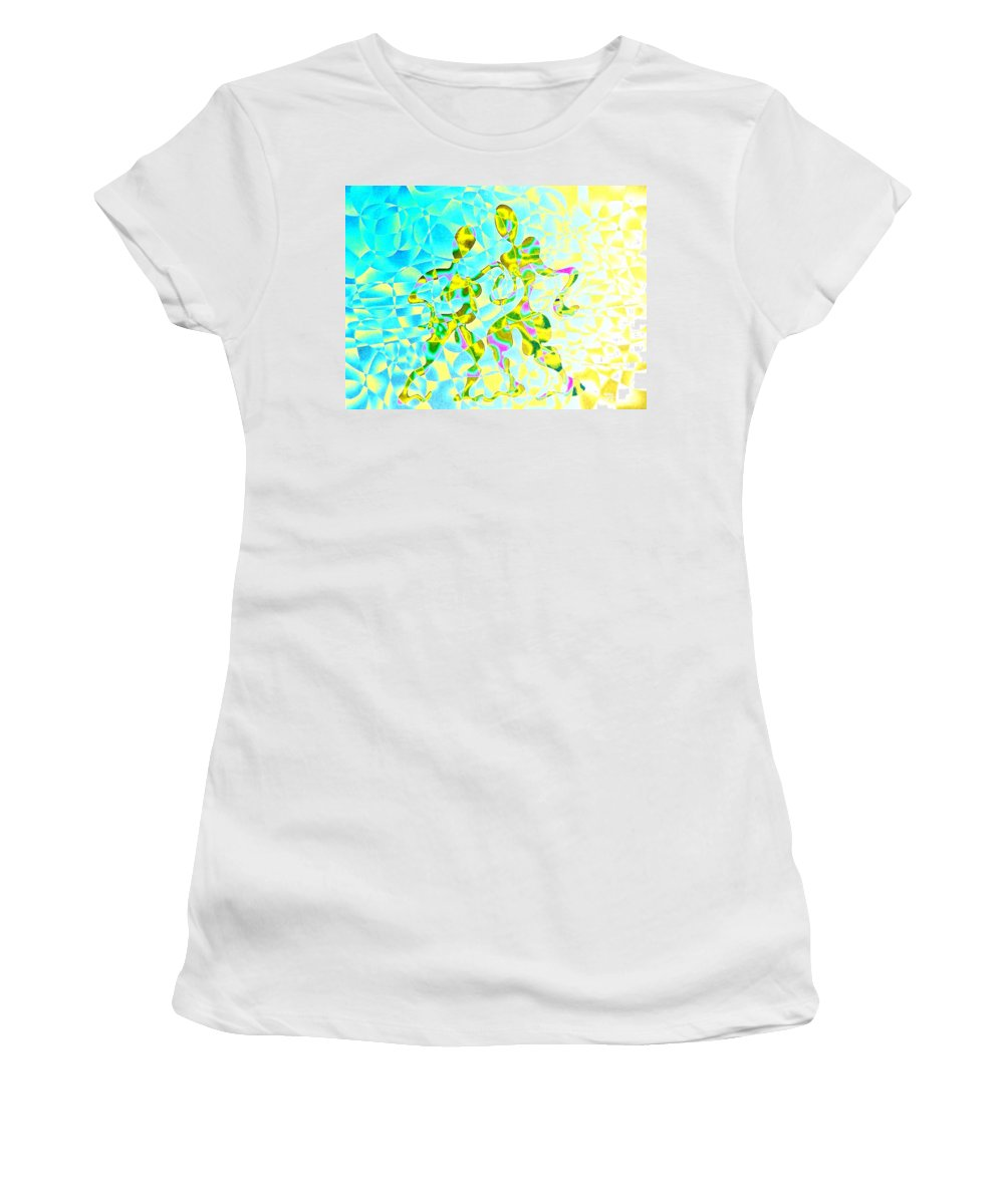 Genio Women's T-Shirt featuring the mixed media Tango Crecendo by Genio GgXpress